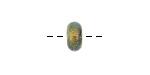 Grace Lampwork Marigold Dichroic Rondelle 5x10mm