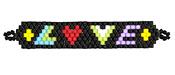 Love Hand Woven Focal Piece 54x9mm