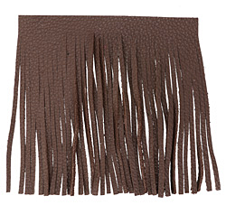 Chocolate Leather Tassel Fringe 5 inch square