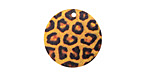 Leopard Etched & Printed Gold Finish Coin Focal 20mm