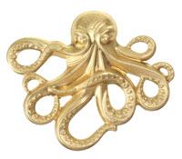 Brass Octopus 63x53mm