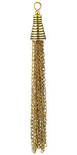 Zola Elements Antique Gold (plated) Grooved Cone Chain Tassel 10x100mm
