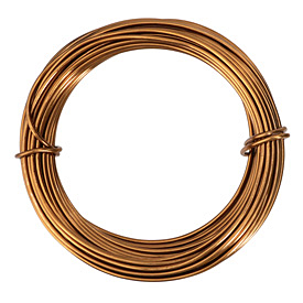 Artistic Wire Aluminum Light Brown 12 Gauge, 12 meters