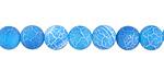 Aqua Blue Fire Agate (matte) Round 8mm