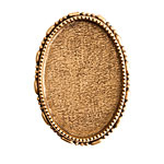 Nunn Design Antique Gold (plated) Oval Ornate Grande Brooch 32x45mm