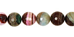 Rainbow Fire Agate Faceted Round 10mm