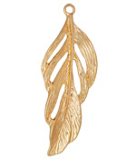 Zola Elements Matte Gold Finish Feather Focal 21x56mm