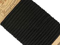 Black Hemp Braided Rope 4mm, 3m