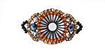 Desert Hand Woven Baroque Circle 30x18mm