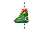Grace Lampwork Stocking Focal 15x17mm