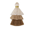 Sand Castle Mix Small 3-Tiered Tassel 35mm