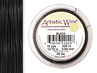 Artistic Wire Black 22 gauge, 15 yards