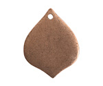 Nunn Design Antique Copper (plated) Flat Marrakesh Tag 22x28mm