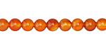 Carnelian (orange) Round 6mm