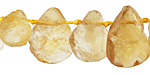 Citrine Rough Flat Teardrop 11-15x15-20mm