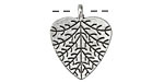 Zola Elements Antique Silver (plated) Cottonwood Leaf 19.5x23.5mm