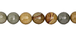 Wild Horse Picture Jasper Faceted Round 8mm
