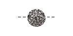 Black Diamond Pave (w/ Preciosa Crystals) Round 12mm