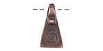 Greek Bronze (plated) Pyramidal Meandros Spiral Charm 11x20mm