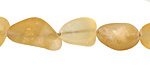 Citrine (Matte, Dark) Tumbled Nugget 9-18x10-13mm