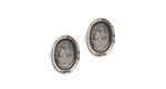 Nunn Design Antique Silver (plated) Itsy Oval Earring Post 6x8mm