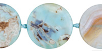 Aqua Terra Agate Coin 30mm