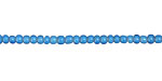 African Trade Beads Turquoise White Heart Glass 2-3mm
