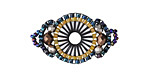 Dark Waters Hand Woven Baroque Circle 30x18mm