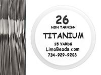 Parawire Titanium 26 Gauge, 15 Yards