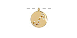 Gold (plated) w/ Crystals Scorpio Constellation Charm 11x13mm