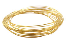 Memory Wire Gold (plated) Large Oval Bracelet .35 oz.
