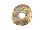 Greek Antique Brass (plated) Large Disk 25mm
