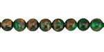Kelly Green Opal w/ Bronzite Marbled Quartz Round 6mm