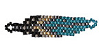 Kingfisher Hand Woven Feather 45x10mm