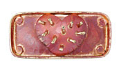 Patricia Healey Copper Beating Heart 10mm Flat Slide 50x24mm