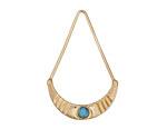 Zola Elements Matte Gold (plated) Delicate Crescent Focal w/ Resin Turquoise 21x33mm