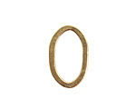 Nunn Design Antique Gold (plated) Small Flat Oval 15x24mm