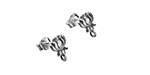Nina Designs Sterling Silver Small Lotus w/ Loops Post Earring w/ Back 7x9.5mm