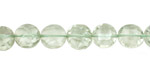 Prasiolite Faceted Puff Coin 8mm