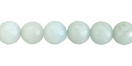 Amazonite Faceted Round 8-9mm