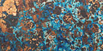 """Lillypilly Mystic Topaz Patina Copper Sheet 2""""x10"""", 36 gauge"""