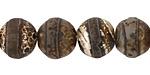 Tibetan (Dzi) Agate (dark) Matte Round 12mm