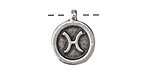 Greek Pewter Pisces Pendant 15x18mm