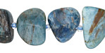 Pacific Blue Apatite Tumbled Nugget 10-20x11-14mm
