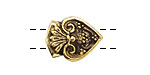 Greek Antique Gold (plated) 2-hole Tassel Bead 20x15mm