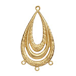 Brass Openwork Flat Oval Chandelier 44x23mm