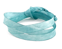 """Blue Lilies Hand Dyed 100% Silk Ribbon 7/16"""""""