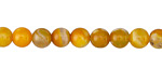 Saffron Fire Agate Round 6mm