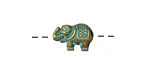 Zola Elements Patina Green Brass Lucky Elephant 12x8mm