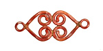 Patricia Healey Copper Double Spiral Heart Link 35x15mm